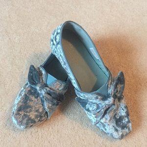 Toms Shoes - Toms Blue Velvet Slip-ons 7.5